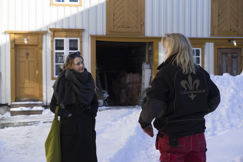 Rådgiving på Saxenborg gård. Foto: Rikke Løe Hovdal.