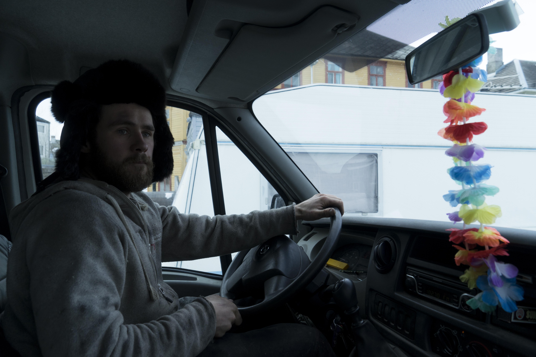 Kjøring med varebilen Ferdinand. Foto: Rikke Løe Hovdal.